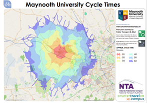 Image of Maynooth University Cycle Time Map
