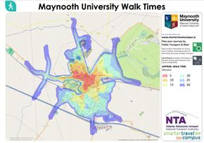 Image of Maynooth University Walk Time Map