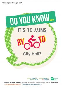 'Do you know the time to cycle to?' editable poster