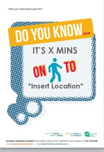 Editable promotional poster - how long does it take to walk to