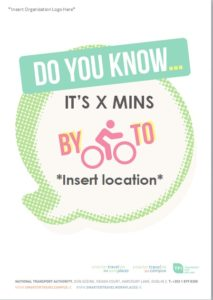 Editable promotional poster - how long does it take to cycle to