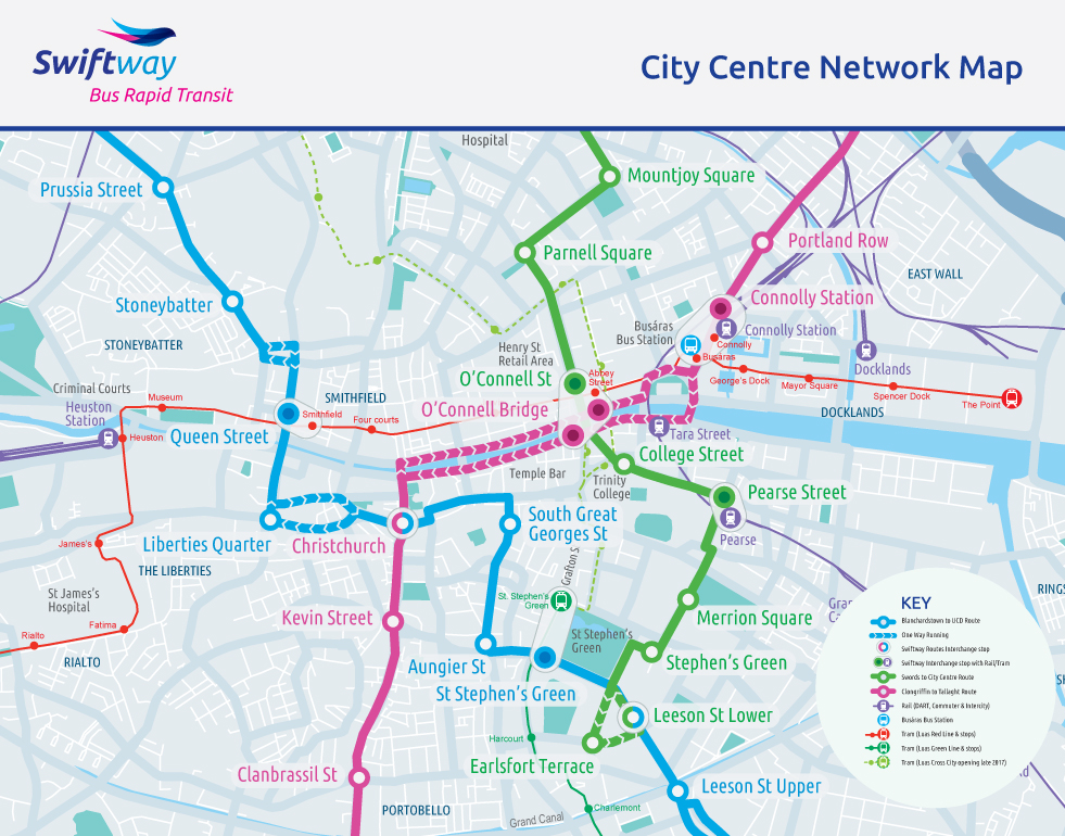 City Centre Network Map - National Transport AuthorityNational ... on